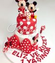 1 Yaş Minnie ve Mickey Mouse Pasta