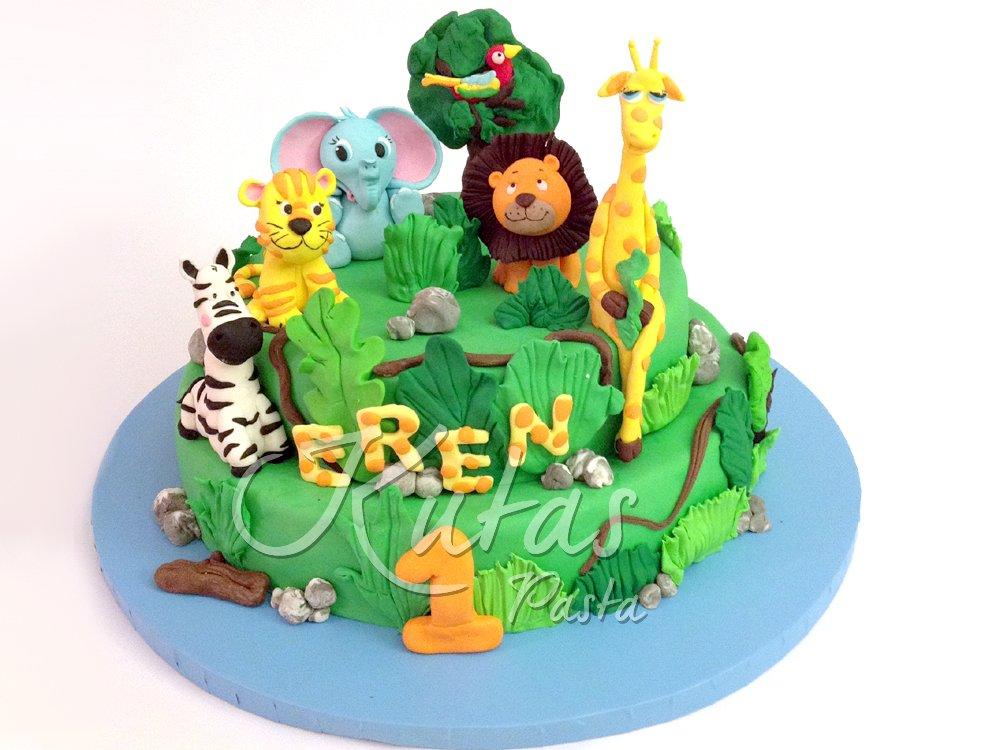 1 Yaş Hayvanlı Pasta