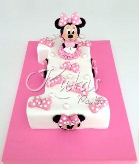 Minnie Mouse 1 Yaş Pasta