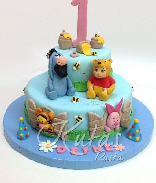Winnie The Pooh 1 Yaş Pasta