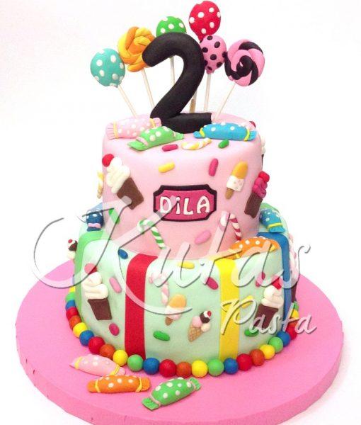 2 Yaş Kız Çocuk Pastası