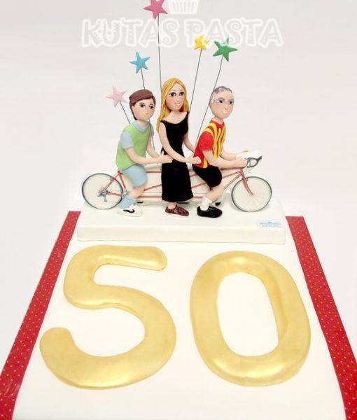 50 Yaş Pasta Aile Bisiklet