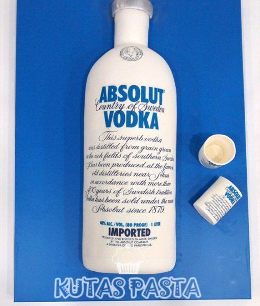 Absolut Vodka Şişe Pasta