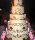 Düğün Pasta Maketi Altın İşlemeli