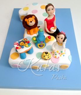 Anne Kız 1 Yaş Pasta