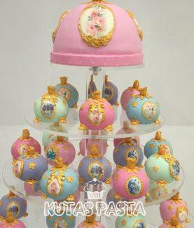 Antik Porselen Faberge Nişan Pasta