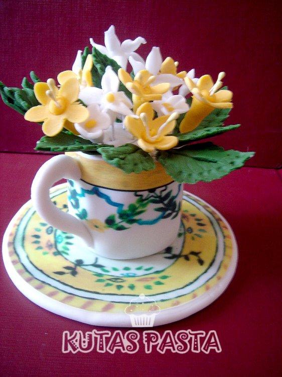 Porselen Fincan Porsiyon Pasta