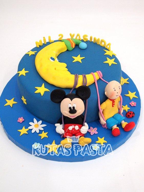 Ay Dede Pasta Mickey Mouse 2 yaş Caillou