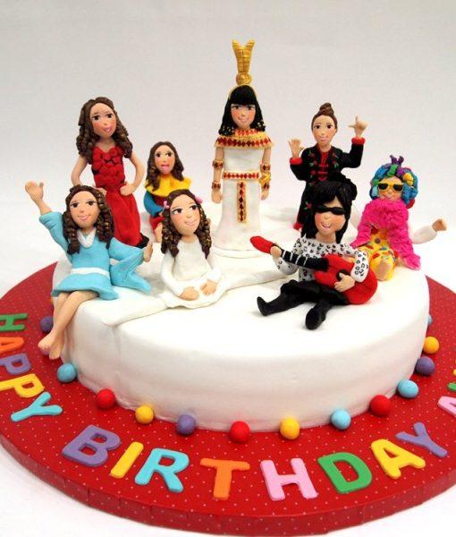 10 Yaş Kız Çocuk Doğumgünü Pastası