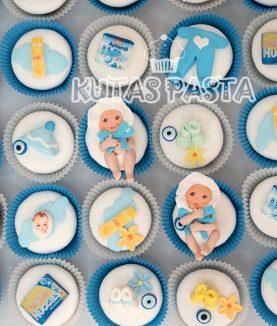 Baby Shower Erkek Bebek Cupcake