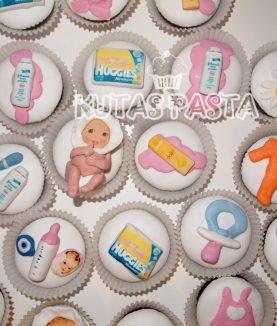 Baby Shower Kız Bebek Cupcake