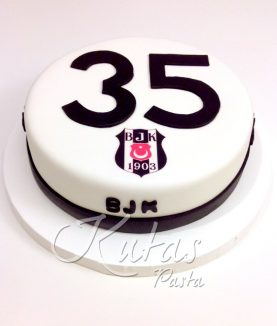 Beşiktaş 35 Yaş Pastası