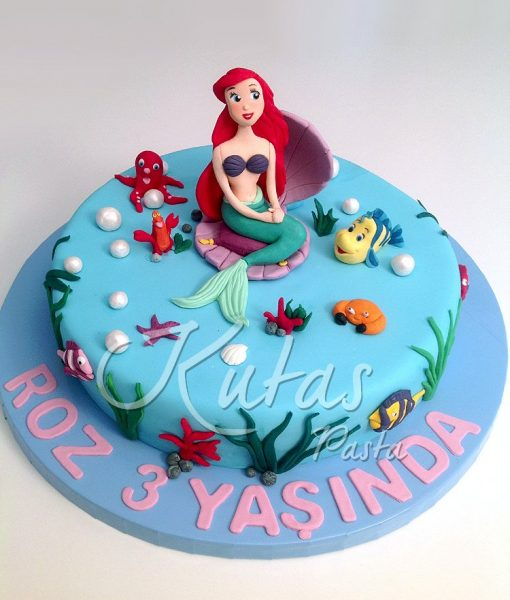 Deniz Kızı Ariel Pasta