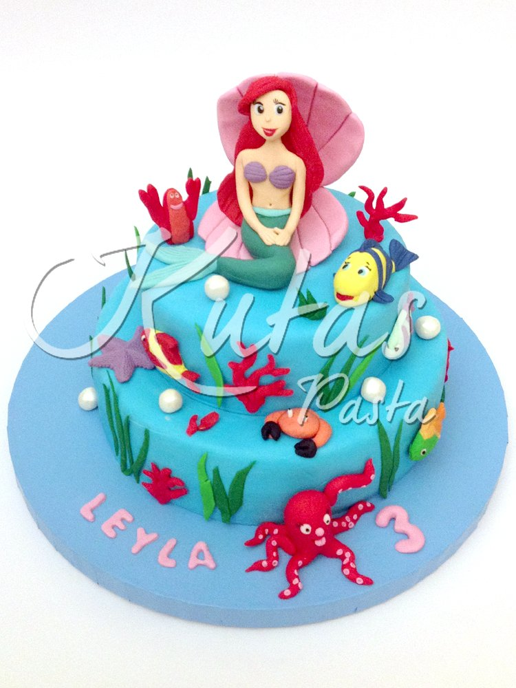 Deniz Kızı Ariel Pastası