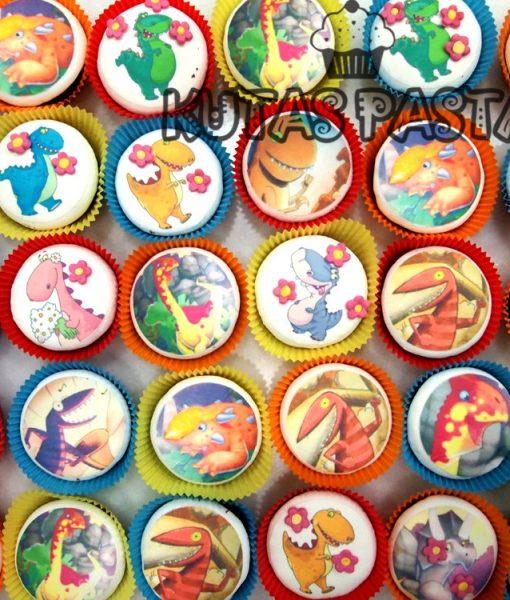Dinozorlu Cupcake Kupkek