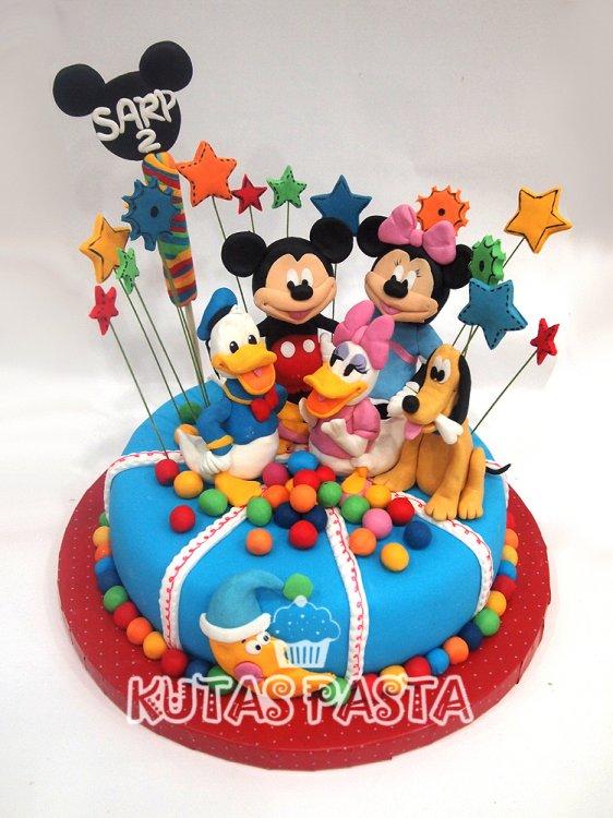 Disney Kulüp Evi Pasta 2 Yaş Mickey minnie