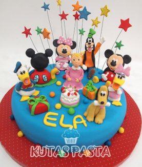 Disney Kulüp Evi Pasta Miki Mini