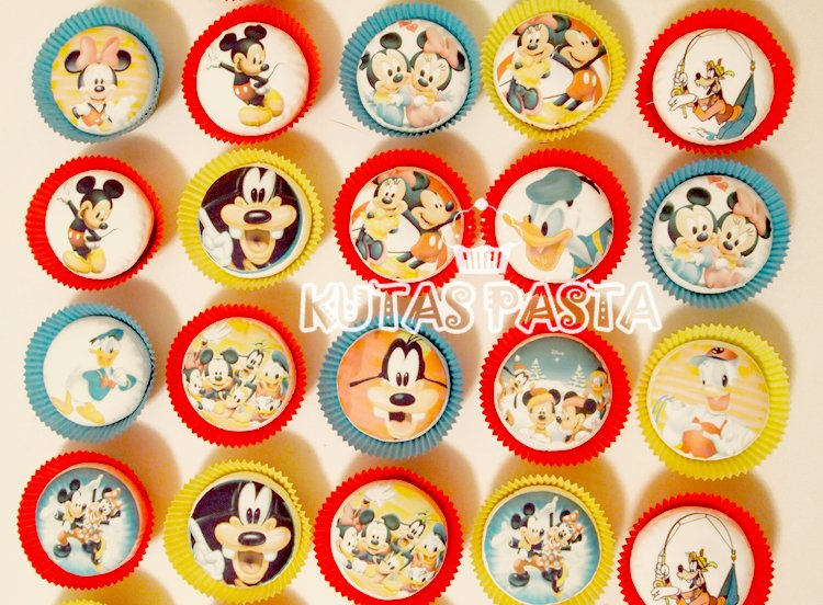 Disney Temalı Cupcake Kupkek
