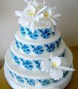 Antika Porselen Düğün Pasta Maketi