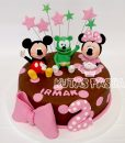 Gummy Bear Minnie Mickey Pastası
