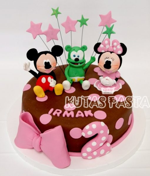 Gummy Bear Minnie Mickey Pastası
