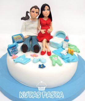 Hamile Baby Shower Pasta Yeni Anne Baba