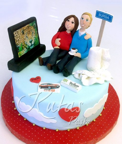 Hamile Eş Doğumgünü Pasta