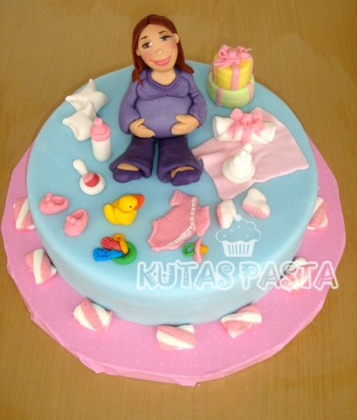Hamile Kız Bebek Pasta