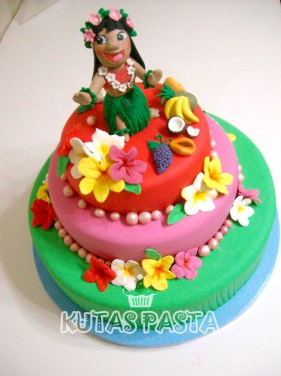 Hawaii Pastası Kız Çocuk Moana
