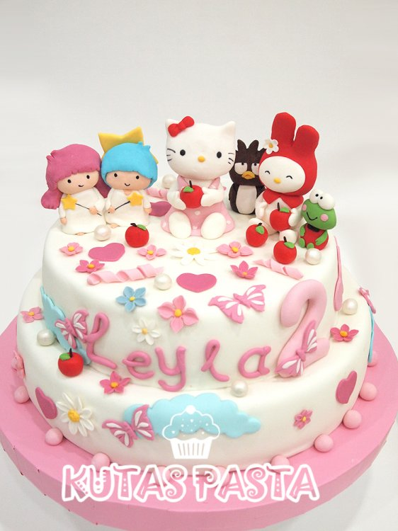 Hello Kitty ve Arkadaşları Pasta 2 Yaş