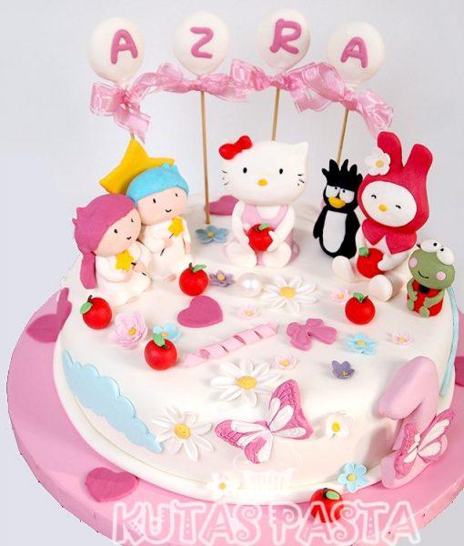 Hello Kitty ve Arkadaşları Pastası