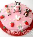 Hayvanlı Pasta inek kuzu köpek