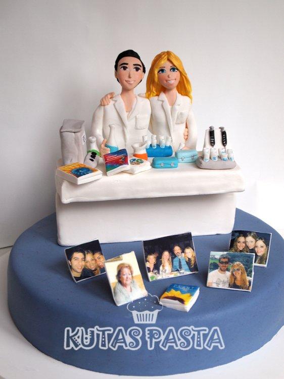 Kimyager Çift Pasta Aile