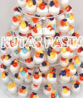 Kır Çiçekli Porsiyon Düğün Pastası