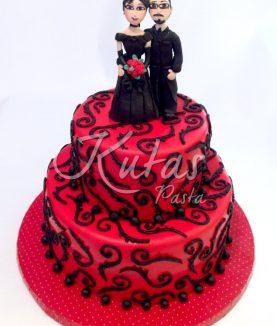 Nişan Pastası Kırmızı