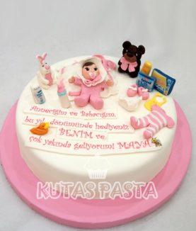 Kız Bebek Baby Shower Pasta