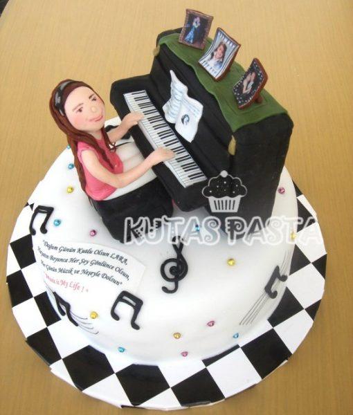 Piyano pasta Kız çocuk