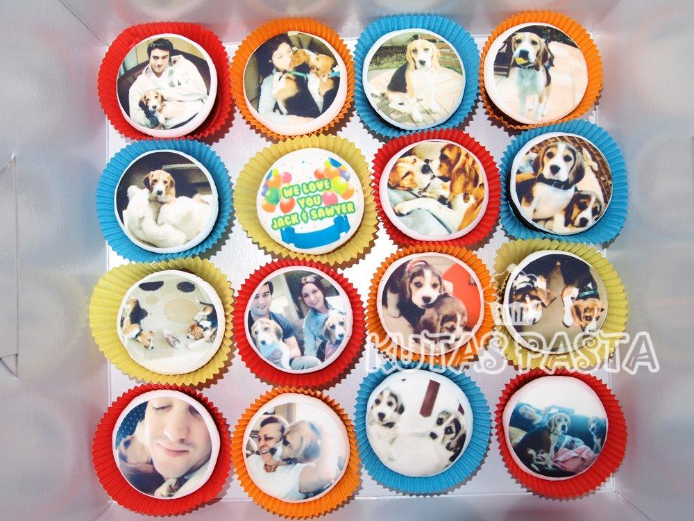 Köpekli Doğum Günü Cupcake