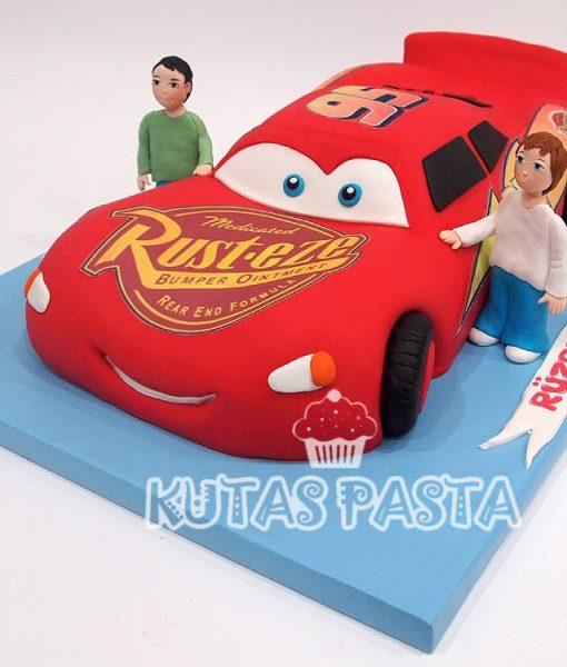 Şimşek McQueen Pastası Mekkuin