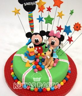 Disney Kulüp Evi Pasta Mickey Minnie Donald Duck