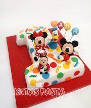 1 Yaş Pastası Disney Minnie Mickey Mouse