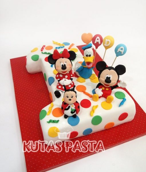 1 Yaş Pastası Disney Minnie Mickey Mouse