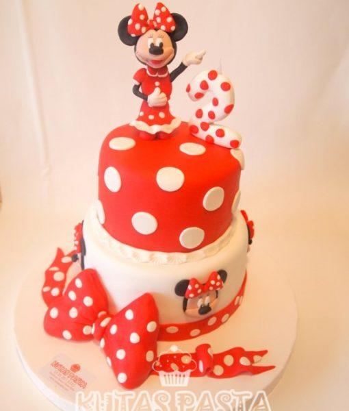 Minni Mouse Pasta Kırmızı