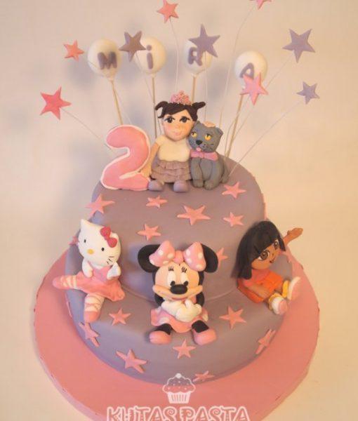 Hello Kitty Minnie Mouse Dora Pasta