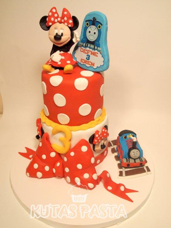 Minnie Mouse Thomas Tren Pasta