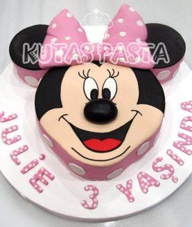 Minni Mouse Surat Pasta 3 Yaş