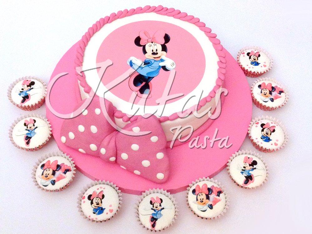 Resimli Minnie Mouse Pasta