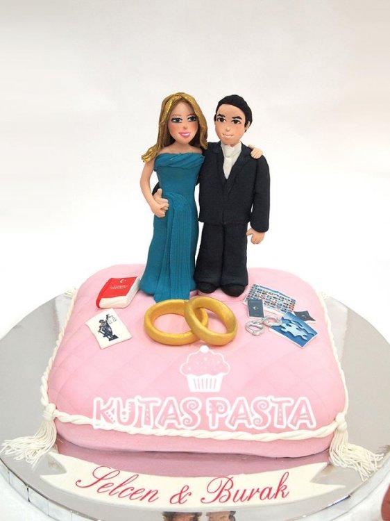 Nişan Pastası Yastık Çift
