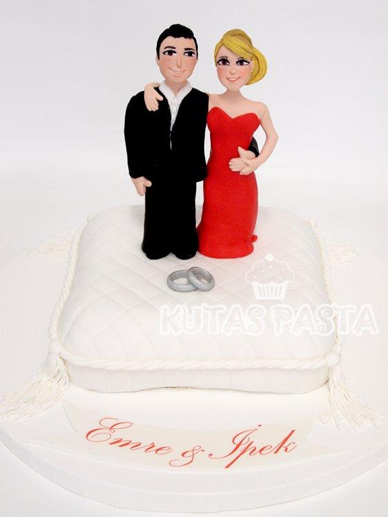 Nişanlı Çift Pastası