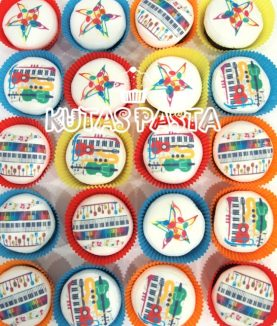 Müzikli Cupcake Kupkek